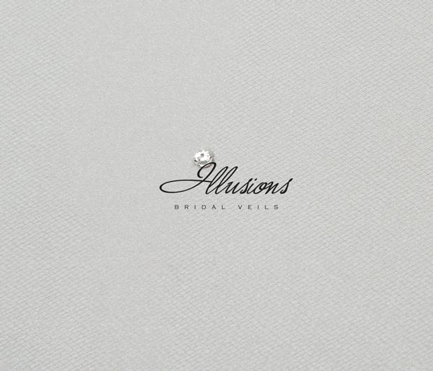 Illusions Bridal Cut Edge Veil S7-362-CT: Rhinestone Accent