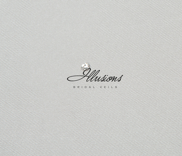 Illusions Bridal Colored Veils and Edges C5-202-C-AG: Rhinestone Accent