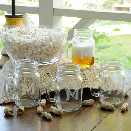 JDS Personalized Collegiate Jar Glass Set