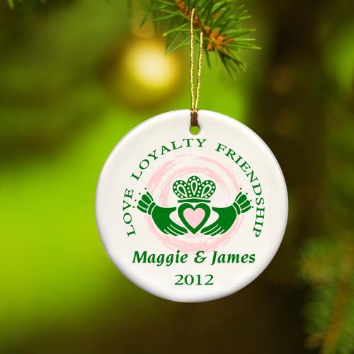 JDS Personalized Irish Ornaments