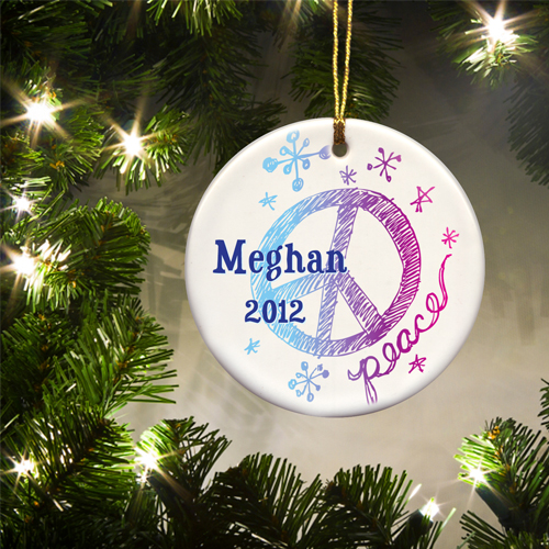 JDS Personalized Ornaments: Kids Christmas