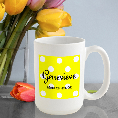 JDS Personalized Polka Dots: Coffee Mug