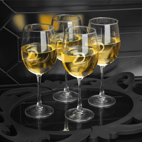 JDS Personalized White Wine Quartet: Set of 4, 19 oz
