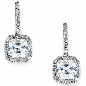 Mariell Radiant Cut Cubic Zirconia Drop Bridal, Prom Or Bridesmaids
