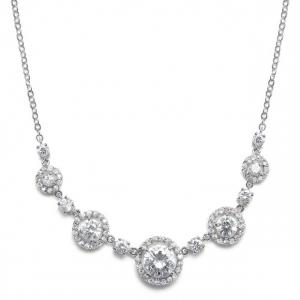 Mariell CZ Circles Bridal Necklace