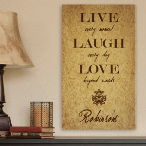 JDS Personalized Canvas Print: Live Every Moment