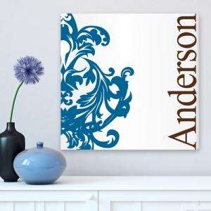 JDS Family Canvas Print: Fleur-De-Lis, Blue