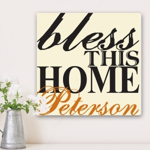 JDS Family Canvas Print: Blessing of the Home