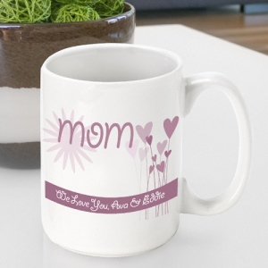 JDS Personalized Mother's Day Coffee Mugs