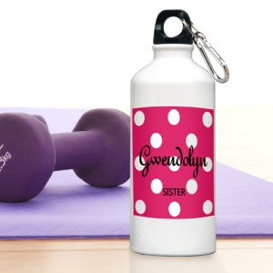 JDS Personalized Polka Dots Water Bottle
