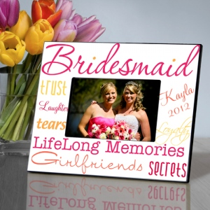 JDS Personalized Kaleidoscope Bridesmaid Picture Frame