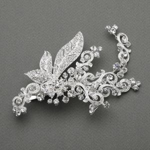 Mariell Art Nouveau Crystal Bridal Hair Clip