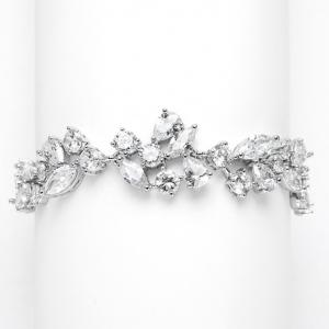 Mariell Glamourous Cubic Zirconia Mosaic Vine Bracelet