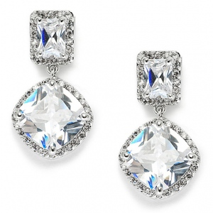 Mariell Stunning Faux Diamonds CZ Wedding Earrings