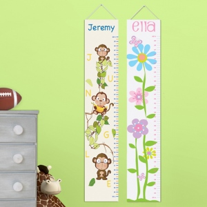 JDS Personalized Kids' Height Chart Canvases