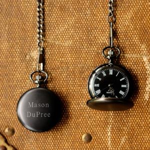 JDS Personalized Midnight Pocket Watch