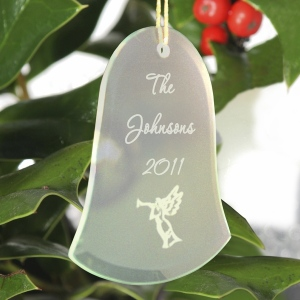 JDS Personalized Christmas Ornament: Bell