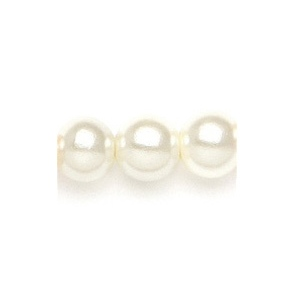 Mariell Dainty 6mm Pearl Stud Wedding Earrings: Ivory, Pierced, Silver