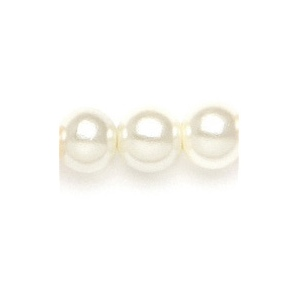 Mariell Classic 8mm Pearl Stud Wedding Earrings: Ivory, Pierced, Silver