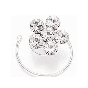 Mariell Prom Or Bridesmaid Crystal Flower Hair Spirals: Clear