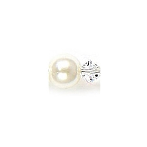 Mariell Pearl & Crystal Dangle Wedding Earrings: White/Clear, Clip