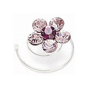 Mariell Prom Or Bridesmaid Crystal Flower Hair Spirals: Light Amethyst