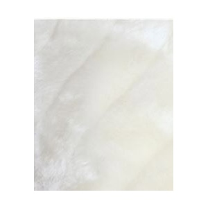 Mariell Faux Mink Pelted Fur Bridal Cape: Ivory