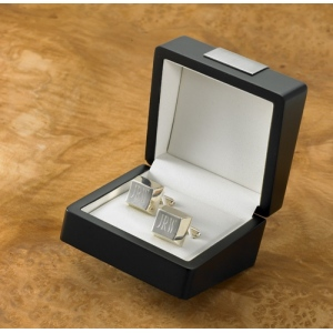 JDS Personalized Cufflinks: Silver Plated
