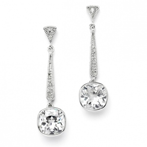 Mariell Vintage Wedding Or Bridesmaid 6 Ct. Cubic Zirconia Dangle Earring