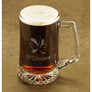 JDS Personalized Shamrock Beer Mug