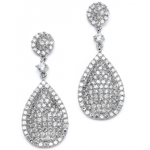 Mariell Luxurious Pave CZ Wedding Earrings
