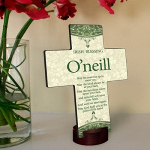 JDS Personalized Cross: Classic Irish