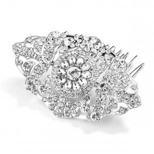 Mariell Magnificent Art Deco Crystal Wedding Hair Comb