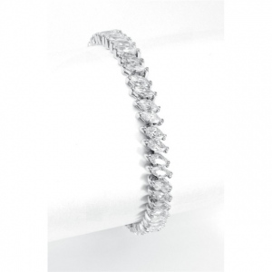 Mariell Wholesale Bridal Tennis Bracelet in Marquis CZ