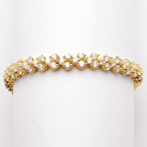 Mariell Petite Gold Cubic Zirconia Wedding Or Prom Tennis Bracelet