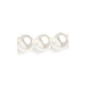 Mariell Pearl Drop Flower Girl Earrings: White