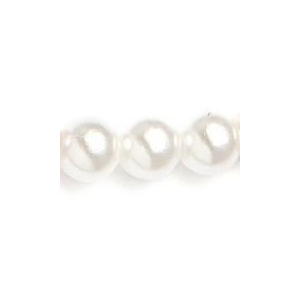Mariell Single Strand 4mm Pearl Wedding Necklace: White, Silver, 14""