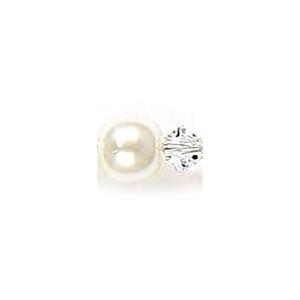 Mariell Pearl & Crystal Dangle Wedding Earrings: White/Clear, Pierced