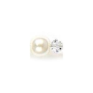 Mariell Swarovski Crystal & Pearl Bridal Chandelier Earrings: White/Clear, Pierced