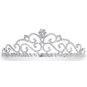 Mariell Rhinestone Scroll Prom Tiara