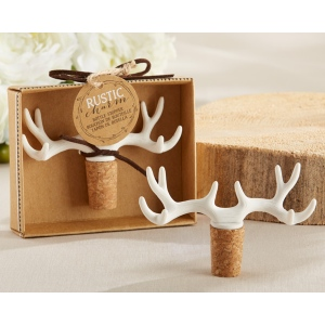 Rustic Charm, Antler Bottle Stopper