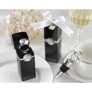 With This Ring, Chrome Diamond-Ring Bottle Stopper