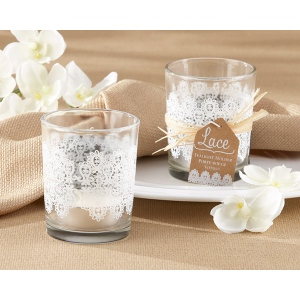 Lace, Glass Tealight Holder: Set of 4