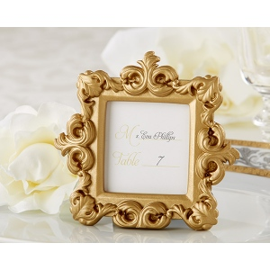 Royale, Gold Baroque Place Card, Photo Holder