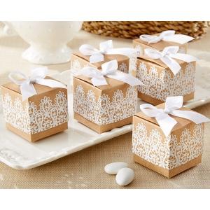 Rustic & Lace, Kraft Favor Box: Set of 24