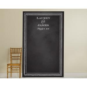 Personalized Chalkboard Backdrop: Beaded Frame