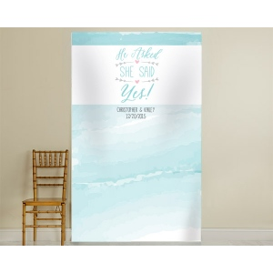 Personalized Photo Backdrop: He Asked, She Said Yes
