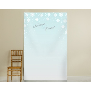 Personalized Winter Photo Backdrop: Snowflake