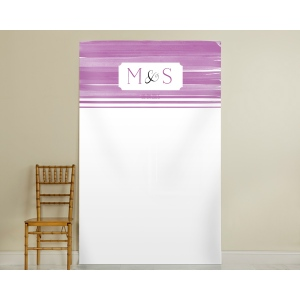 Personalized Orchid Photo Backdrop: Ombre