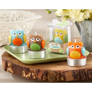 """Whooo's the Cutest"" Baby Owl Candle: Set of 4"